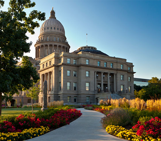 Idaho State Capitol landscaping, institutional landscape design