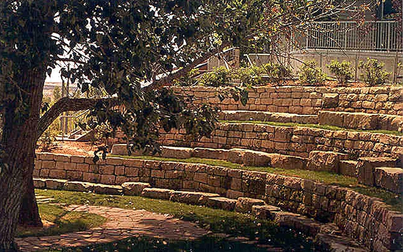 Stone amphitheatre seating