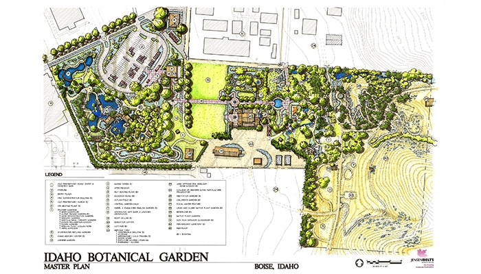 Digital master plan of Idaho Botanical Gardens