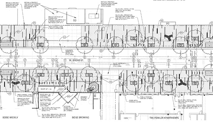 black and white landscaping construction document