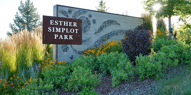 Esther Simplot Park sign